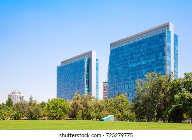SANTIAGO, CHILE - NOVEMBER 11, 2016: Commercial center Nueva Las Condes. This is a new commercial and business center.