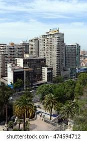 SANTIAGO, CHILE - NOVEMBER 23,2014: Modern Architecture in Santiago de Chile.