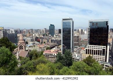 SANTIAGO, CHILE - NOVEMBER 23,2014:Modern Architecture in Santiago de Chile.