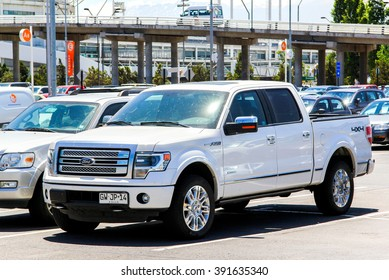 Ford pickup truck images stock photos vectors shutterstock santiago chile november 24 2015 pickup truck ford f 150 in freerunsca Choice Image