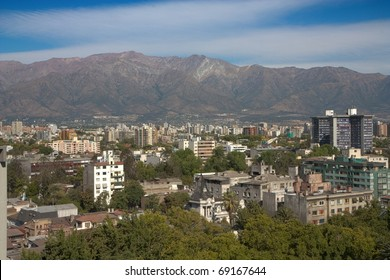 Santiago de Chile and Andes mountains