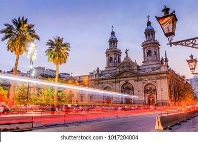 Santiago de Chile, Chile. Plaza de las Armas square in Santiago de Chile.