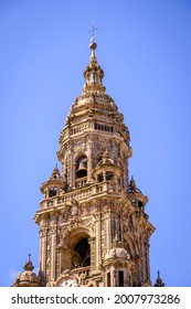 Santiago de Compostela Cathedral, a temple of Catholic worship located in the homonymous city.