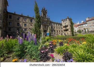 Santiago de Compostela city. Spain, Europe. Amazing historical city, the target of all pilfrims during Camino de Santiago.