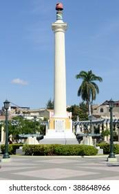 Santiago de Cuba, Cuba - 13 january 2016: Jose Marti monument on Marte square at Santiago de Cuba, Cuba