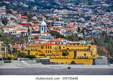 Santiago fortress (Sao Tiago fort) in Funchal, Madeira island, Portugal