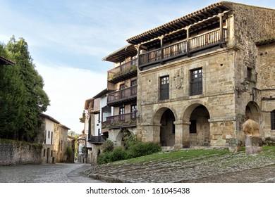 Santillana del Mar, medieval village in Cantabria, Spain