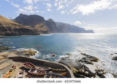 Santo Antao, Cape Verde - March 2013: Cruzinha da Garca