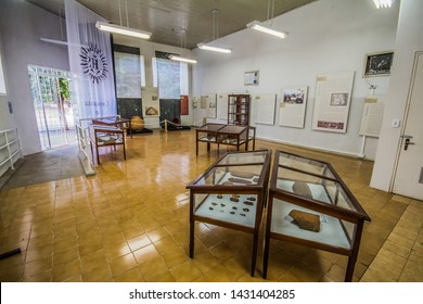 Santo Inácio / Paraná / Brazil - June 13, 2016 - Historical Museum of St. Ignatius has artifacts used in the Jesuit reduction is possible to find vestiges of the Jesuit missions in the museum