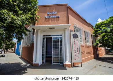 Santo Inácio / Paraná / Brazil - June 13, 2019 - Facade of the Historical Museum in the city of Santo Inácio