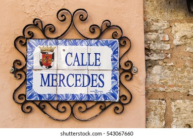 SANTO DOMINGO - DOMINICAN REPUBLIC - December 25,2016 : Famous and lovely street signs of Santo Domingo streets.
