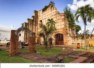 SANTO DOMINGO - DOMINICAN REPUBLIC - December 25,2016 : Ruins of hospital San Nicolas de Bari at Santo Domingo, Dominican Republic.