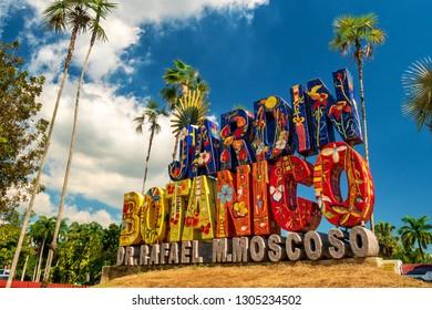 SANTO DOMINGO - DOMINICAN REPUBLIC - January 30, 2019 : National Botanical Garden of Santo Domingo also called Rafael Ma. Moscoso Jardin Botanico Nacional famous landmark of Dominican Republic.