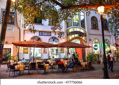 SANTO DOMINGO, DOMINICAN REPUBLIC - January 24: Bar near Commercial Centre COLON in Columbus Park. Taken in Janaury 24, 2016 in Santo Domingo, Dominican Republic.