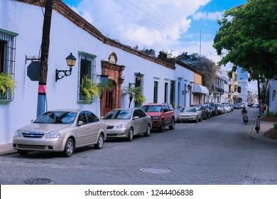 Santo Domingo,  Dominican Republic - June 30, 2018: Daily Life of the   Bright Caribbean Capital