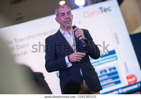 SANTO DOMINGO/DOMINICAN REPUBLIC - OCTOBER 25, 2019: Nokia Digital Transformation Global Lead, Agustín Pozo during ClaroTec 2019 conference. Technology event in Caribbean area by Claro Dominicana.