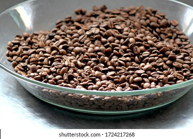 Santo André/São Paulo/ Brazil - 05-05-2020- Coffee beans, bought in the market, in Santo André - SP. Roasted coffee beans, Arabica type, produced in Brazil. Brazil produces and exports Arabica coffee.