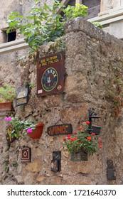 SANTO STEFANO DI SESSANIO (L'AQUILA),ITALY - 8 AUGUST 2019 - Santo Stefano di Sessanio is a pitoresque hill town in the province of L'Aquila in the Abruzzo region of southern Italy.