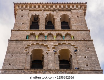 Santo Tome church, Toledo, Spain. Founded after the reconquest of this city by King Alfonso VI of Leon on the site of an old mosque. The minaret was transformed into a bell tower in Mudéjar style.