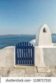 Santorini charming white and blue architecture, Greece