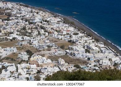 Santorini Greece from above.