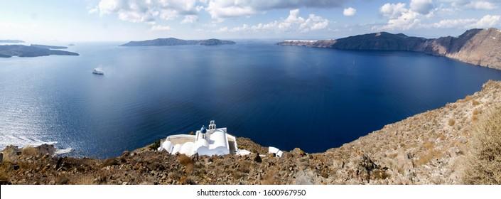 Santorini, Greece: typical Greek church