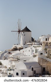 Santorini Island  - view of the famous windmills