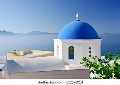 Santorini landscape, Greece
