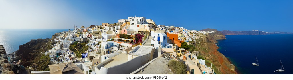 Santorini view (Oia), Greece - vacation background