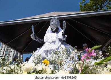 Santos, Brazil. February, 05, 2017: Image of Iemanja during commemoration day in honor of Iemanja.