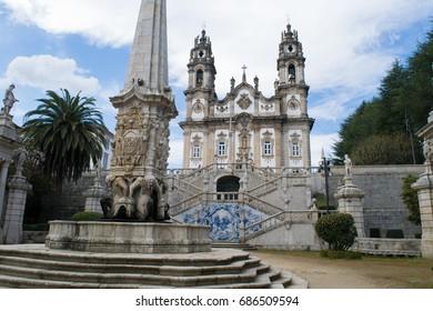 Santuario de Nossa Senhora dos Remedios Church in the city of Lamego, Portugal
