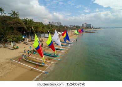 SANUR/BALI,INDONESIA-AGUST 9 2017: Jukung Contest in Sanur Festival 2017