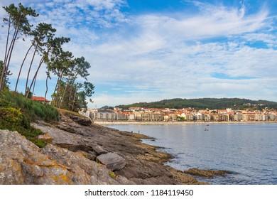 Sanxenxo touristic city from Bicanho cape