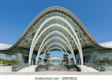 SANYA - CHINA, MAY 11 : Front building of CDF Mall, The world largest duty free shopping center in Hainan China on May 11,2015