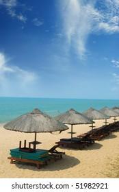 Sanya, China's beautiful scenery of the beach