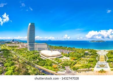 Sanya, Hainan, China - June 7th 2019: Rosewood Hotel at Haitang Bay, Sanya City, the Southern Tropical Coastal Tourism Destination of Hainan Province, China, Southeast Asia. Luxury Accommodation.