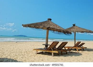Sanya, Hainan, China's tropical beach scenery
