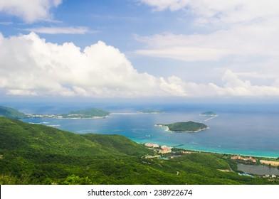 Sanya Yalong Bay, view from mountain
