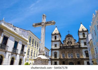 Sao Francisco chuch in Pelourinho district in Salvador do Bahia Brazil