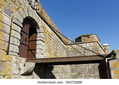 Sao Francisco Xavier fortress, aka Cheese Castle, built in the fifteenth century on the Cheese cliff, ancestral place of Draganes tribe worship, located in city of Oporto