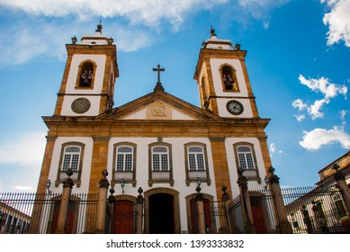 Sao Joao Del Rei, Minas Gerais: Landscape overlooking a beautiful classical Church in the old town