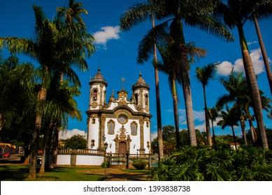 Sao Joao del Rei, Minas Gerais, Brazil: Sao Francisco de Assis church, one of the main church of rural colonial town of Sao Joao del Rei.