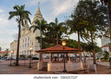 Sao Luis, Brazil - 16 January 2019: Traditional Portuguese colonial architecture in Sao Luis on Brazil