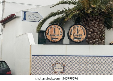 SAO MIGUEL ISLAND, AZORES, PORTUGAL - MAY 24, 2016: Frontal view of the Mulher do Capote liquor factory located in Sao Miguel island, Azores, Portugal.