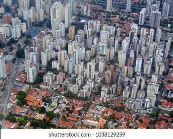 Sao Paulo aerial view