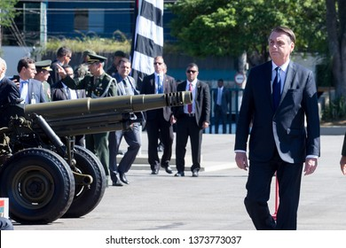 Sao Paulo, BrazilApr 18, 2019President JAIR BOLSONARO, takes part in the Brazilian Army Day celebration at the headquarters of the Brazilian Army Command.