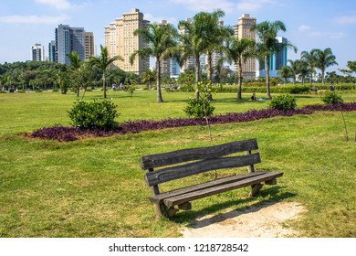 Sao Paulo , Brazil, April 27, 2013, People in Villa Lobos Park. The park is a good place for walkers, cycling and an oasis for the skaters