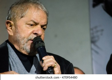 Sao Paulo, Brazil August 12, 2016: Former President Lula in PT Plenary in Guainases District.