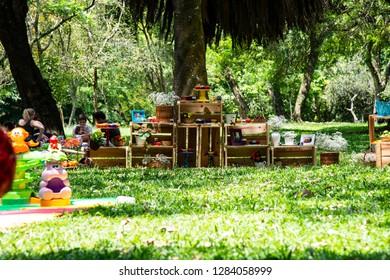 Sao Paulo, Sao Paulo, Brazil, December 15, 2018, Ibirapuera park, people enjoying the park at afternoon