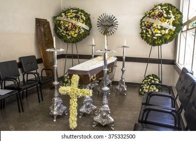 Sao Paulo, Brazil, February 10, 2016. Catholic Funeral in Sao Paulo, Brazil